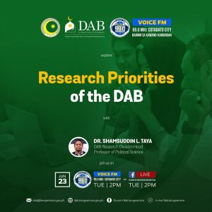 DAB has been known as a training institution for Bangsamoro government employees.