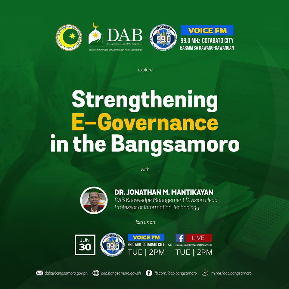 Strengthening E-Governance in the Bangsamoro with our Knowledge Management Division Head