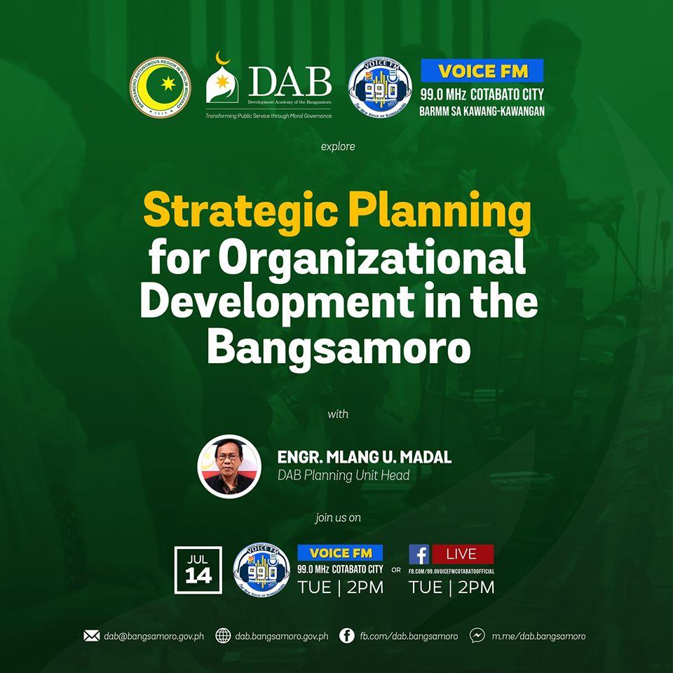 Strategic Planning for Organizational Development in the Bangsamoro